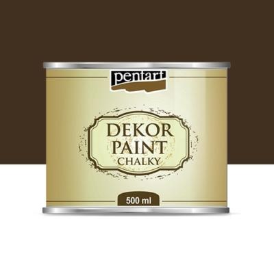 Pentart dekor soft krétafesték 500 ml barna