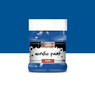 Pentart matt akrilfesték 230 ml kék