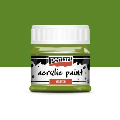 Pentart matt akrilfesték 50 ml olíva