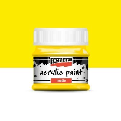 Pentart matt akrilfesték 50 ml sárga