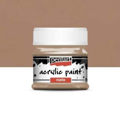 Pentart matt akrilfesték 50 ml sötéthomok