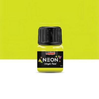 Pentart neon színű akrilfesték sárga 30 ml