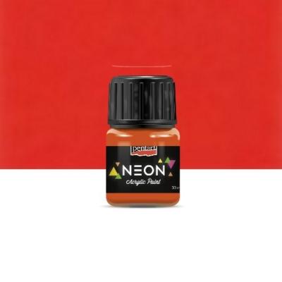 Pentart neon színű akrilfesték narancs 30 ml
