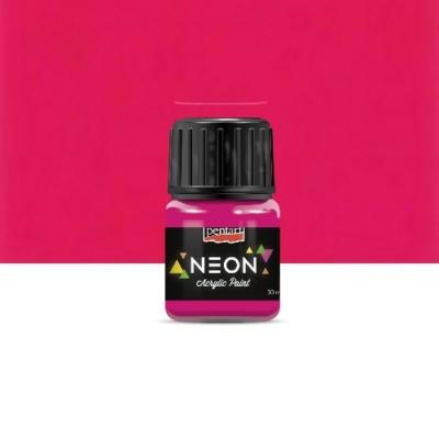 Pentart neon színű akrilfesték pink 30 ml