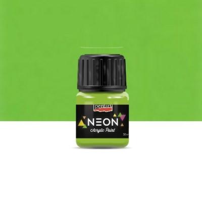 Pentart neon színű akrilfesték zöld 30 ml