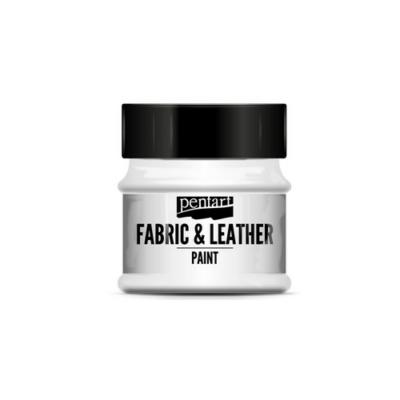 Pentart textil és bőrfesték fehér 50 ml