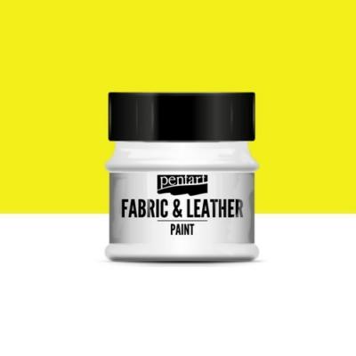 Pentart textil és bőrfesték sárga 50 ml