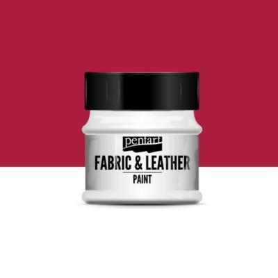 Pentart textil és bőrfesték piros 50 ml