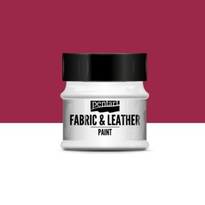 Pentart textil és bőrfesték bordó 50 ml