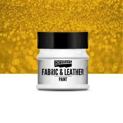 Pentart textil és bőrfesték csillogó arany 50 ml
