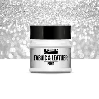 Pentart textil és bőrfesték csillogó ezüst 50 ml