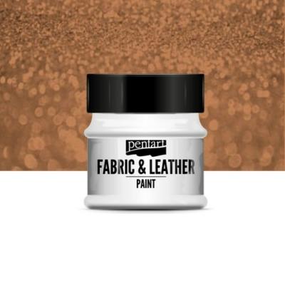 Pentart textil és bőrfesték csillogó bronz 50 ml