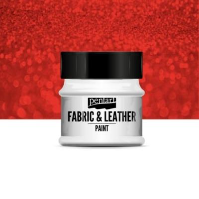 Pentart textil és bőrfesték csillogó piros 50 ml
