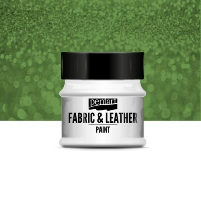 Pentart textil és bőrfesték csillogó zöld 50 ml