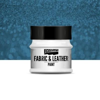 Pentart textil és bőrfesték csillogó kék 50 ml