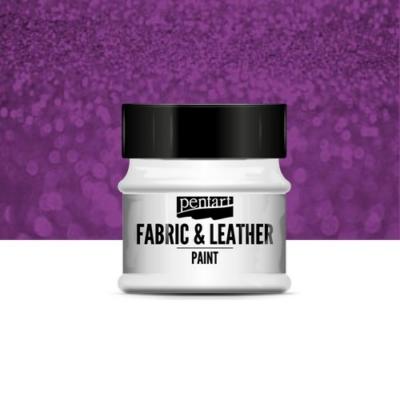 Pentart textil és bőrfesték csillogó lila 50 ml