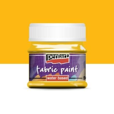 Pentart textilfesték napsárga 50 ml