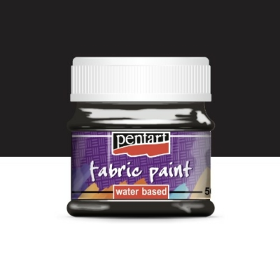 Pentart textilfesték fekete 50 ml