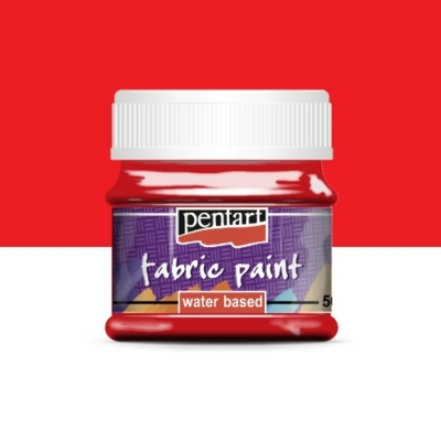 Pentart textilfesték piros 50 ml