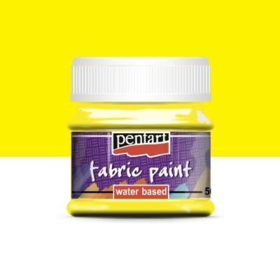 Pentart textilfesték sárga 50 ml