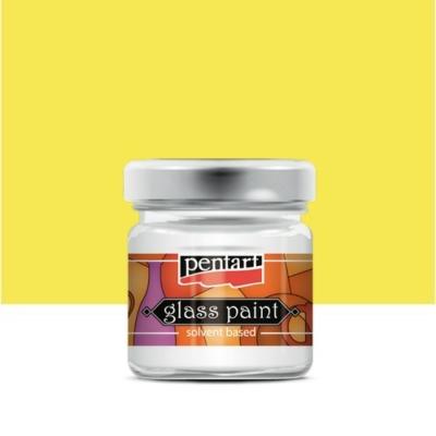 Pentart üvegfesték oldószeres sárga 30 ml