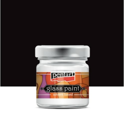 Pentart üvegfesték oldószeres fekete 30 ml