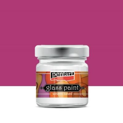 Pentart üvegfesték oldószeres pink 30 ml