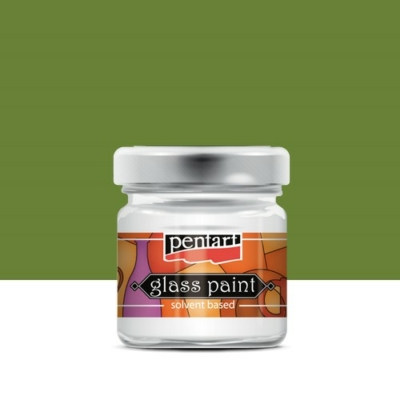 Pentart üvegfesték oldószeres olíva 30 ml