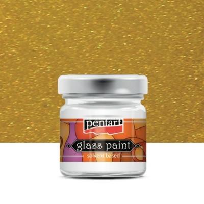 Pentart üvegfesték oldószeres metál arany 30 ml