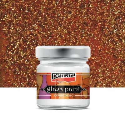 Pentart üvegfesték oldószeres csillámos bronz 30 ml