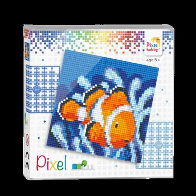 Pixel szett 4 alaplapos bohóchal 12x12 cm (4 alaplap+20 szín)