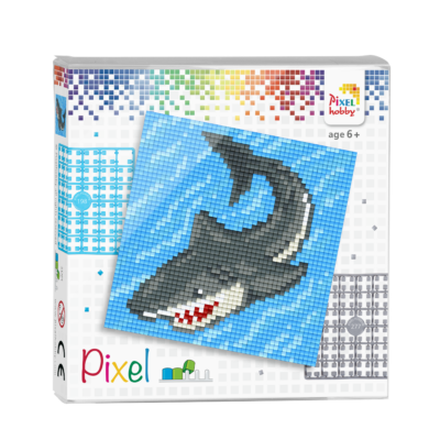 Pixel szett 4 alaplapos cápa 12x12 cm (4 alaplap+20 szín)