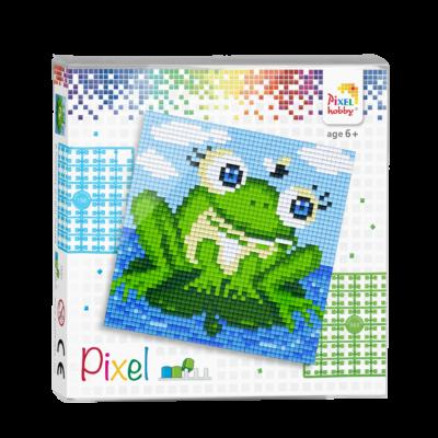 Pixel szett 4 alaplapos béka 12x12 cm (4 alaplap+20 szín)