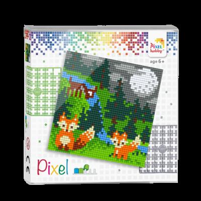 Pixel szett 4 alaplapos rókák 12x12 cm (4 alaplap+20 szín)