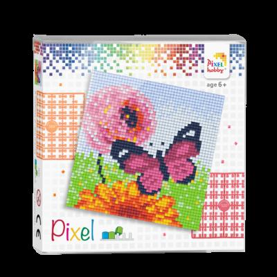 Pixel szett 4 alaplapos pillangó 12x12 cm (4 alaplap+20 szín)