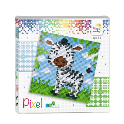 Pixel szett 4 alaplapos zebra 12x12 cm (4 alaplap+20 szín)
