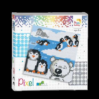 Pixel szett 4 alaplapos arktisz 12x12 cm (4 alaplap+20 szín)