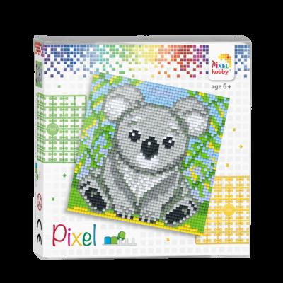 Pixel szett 4 alaplapos koala 12x12 cm (4 alaplap+20 szín)