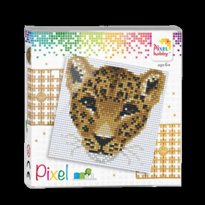 Pixel szett 4 alaplapos leopárd 12x12 cm (4 alaplap+20 szín)