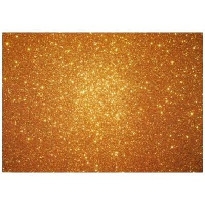csillámos dekorgumi 2 mm A4 élénk arany