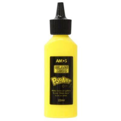 Üvegmatrica festék sárga 22 ml telt