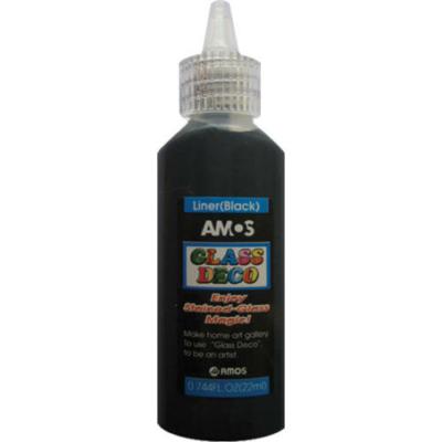 Üvegmatrica festék fekete 22 ml kontúr