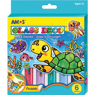 Üvegmatricafesték készlet teknős 6x10.5 ml