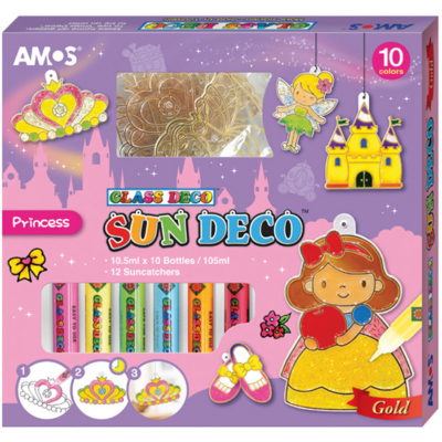 Üvegmatricafesték készlet hercegnő 10x10.5 ml