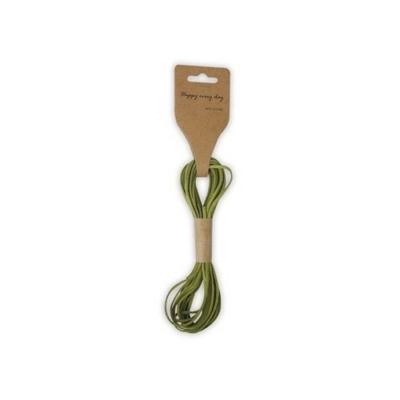 Bőrszíj  zöld 5 m 3 mm