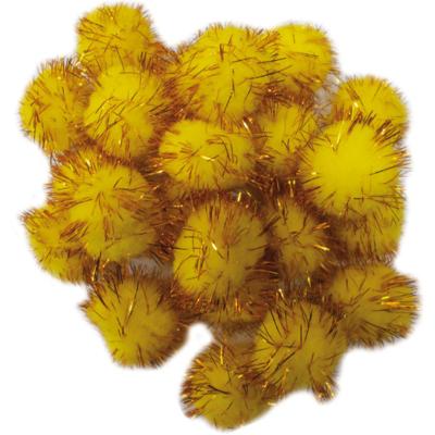 Pompom arany 30 mm 30 db
