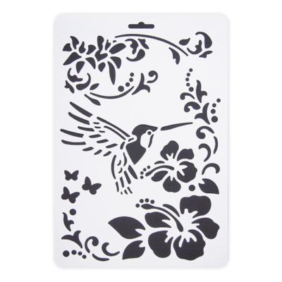 Stencil kolibri virág A/4