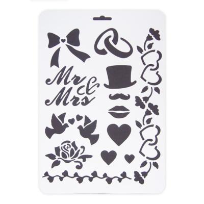 Stencil Mr&Mrs A/4