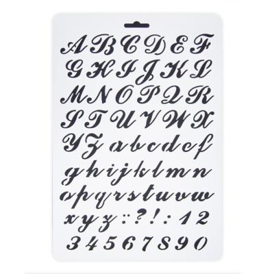 Stencil írott betű míves A/4