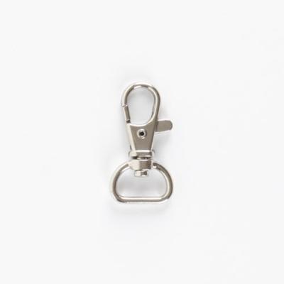 Karabíner - fém alkatrész 15 mm ezüst